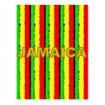 Rasta Colors Jamaica Red Gold and Green Post Cards