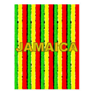 Rasta Colors Jamaica Red Gold and Green Postcard