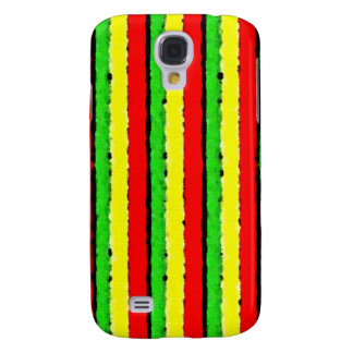 Rasta Colors Jamaica Red Gold and Green Samsung Galaxy S4 Cover