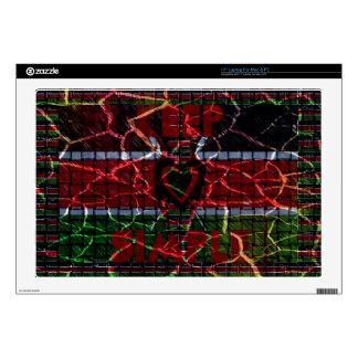 Rasta colors laptop skins