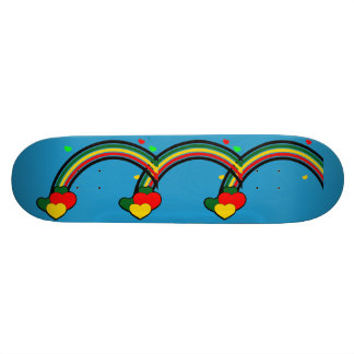 Rasta Colors Rainbow Skateboard