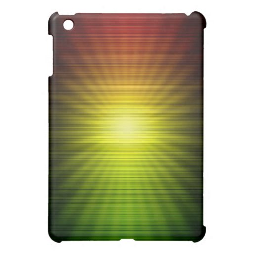 Rasta Colors Red Gold and Green iPad Mini Cases