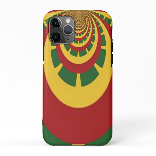 Rasta Colors Vintage COOL RETRO Jamaica Design iPhone 11 Pro Case