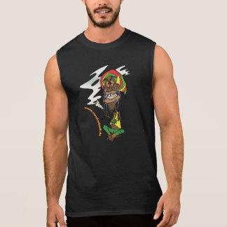 Rasta con porro y Jamaica - gorro Remeras Sin Mangas