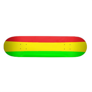 Rasta Curved Skateboard