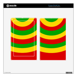 Rasta Curves Decals For Kindle Fire