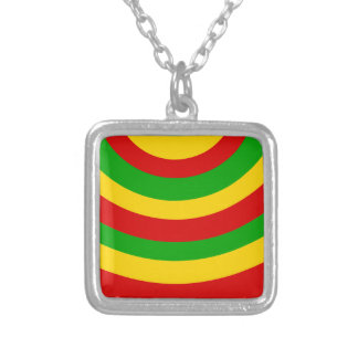 Rasta Curves Silver Plated Necklace