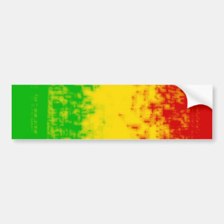 Rasta Design Bumper Sticker