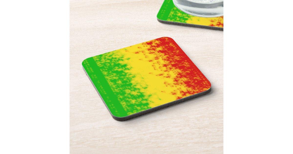 Rasta Design Drink Coaster Zazzle