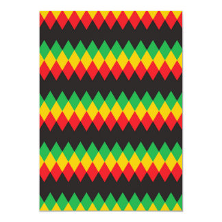 Rasta Diamond Pattern Card