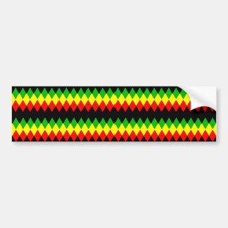 Rasta Diamonds. Red Gold and Green. Jah Rastafari Bumper Stickers