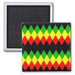 Rasta Diamonds. Red Gold and Green. Jah Rastafari Fridge Magnets
