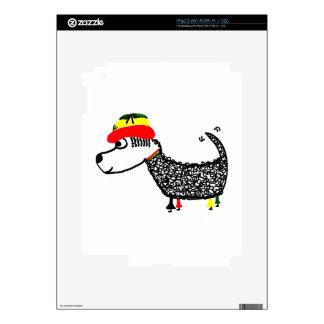 Rasta Dog Decal For iPad 2