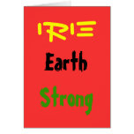 Rasta earthstrong greeting cards