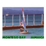 Rasta en un velero, Montego Bay Jamaica Tarjeta Postal