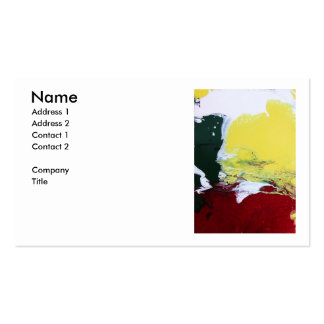 Rasta Flag Double-Sided Standard Business Cards (Pack Of 100)