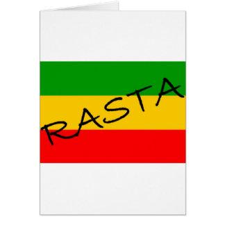 Rasta Flag Card