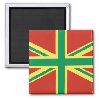 Rasta Flag UK Magnet