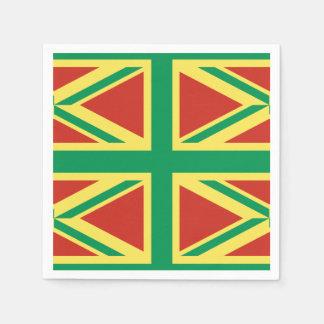 Rasta Flag UK Paper Napkin