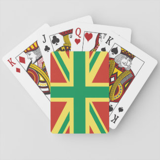 Rasta Flag UK Playing Cards