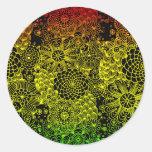 Rasta Flower Round Sticker