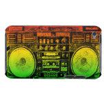 Rasta ghetto blaster barely there iPod cases