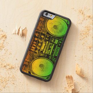 Rasta Ghetto Blaster Carved Maple iPhone 6 Bumper Case