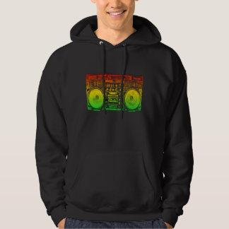 Rasta ghetto blaster hoodie