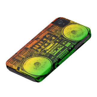 Rasta ghetto blaster iPhone 4 cover