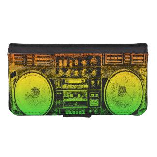 Rasta Ghetto Blaster iPhone SE/5/5s Wallet Case