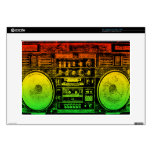 Rasta ghetto blaster laptop skins
