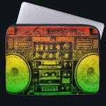 """Rasta ghetto blaster laptop sleeve<br><div class=""""desc""""></div>"""