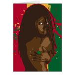 Rasta Girl Card