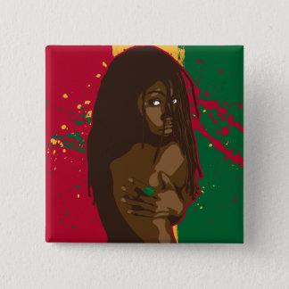 Rasta Girl Pinback Button