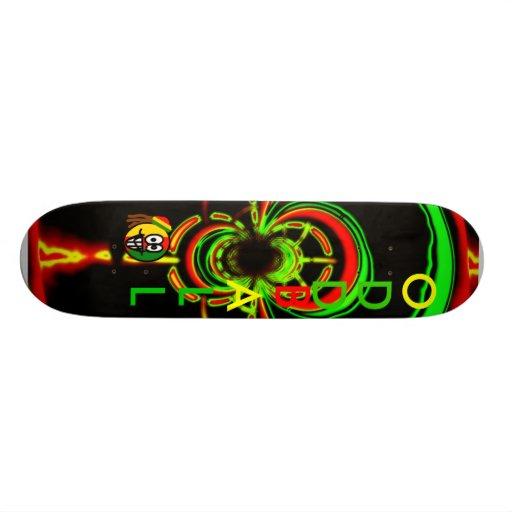 Rasta glow skateboard
