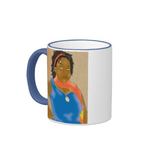 Rasta Gurl Ringer Coffee Mug