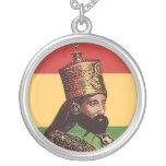 Rasta Haile Selassie Pendant Necklace