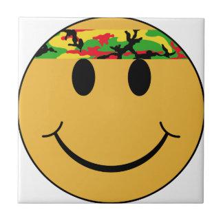 Rasta Headband Smiley Face Tile