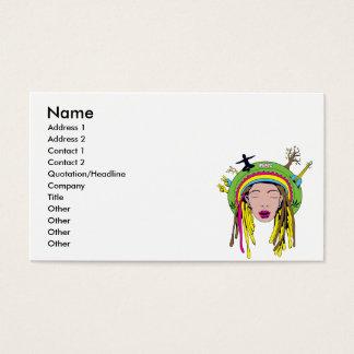 rasta hippie babe business card