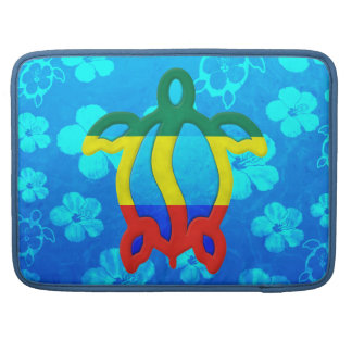 Rasta Honu Blue Hibiscus MacBook Pro Sleeve