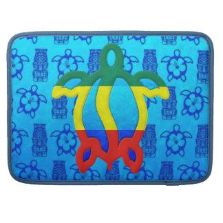 Rasta Honu Blue Tiki Sleeves For MacBook Pro