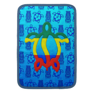Rasta Honu Blue Tiki MacBook Sleeve