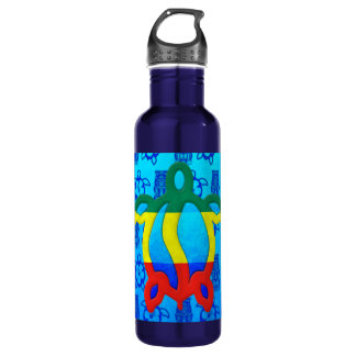 Rasta Honu Blue Tiki Water Bottle