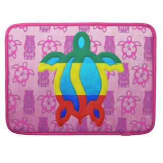 Rasta Honu Pink Tiki Sleeves For MacBook Pro