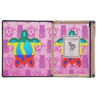 Rasta Honu Tiki rosado iPad Protector