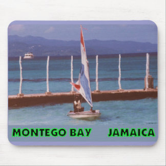 Rasta in a Sailboat, Montego Bay Jamaica Mouse Pad