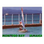 Rasta in a Sailboat, Montego Bay Jamaica Postcard