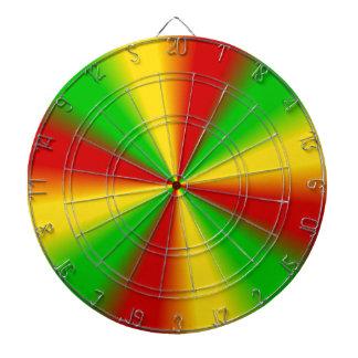 Rasta irradia amarillo verde y rojo tabla dardos