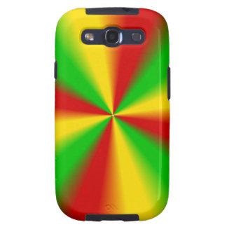 Rasta irradia amarillo verde y rojo galaxy SIII coberturas