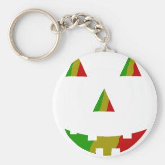 Rasta Jack-O-Lantern Keychain